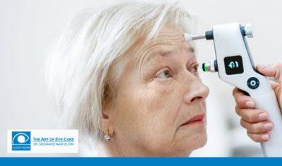 قياس ضغط العين